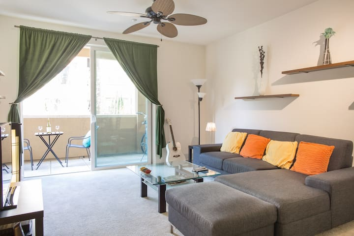 Luxury private room in 2 bed condo - Fremont - Apartament