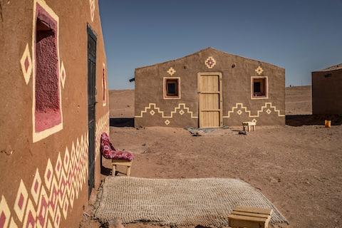 Hut Amazigh at Desert Camp Chraika & Sahara trips