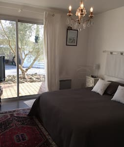 B&B, suite parentale privative avec accès piscine - Cadaujac - Bed & Breakfast