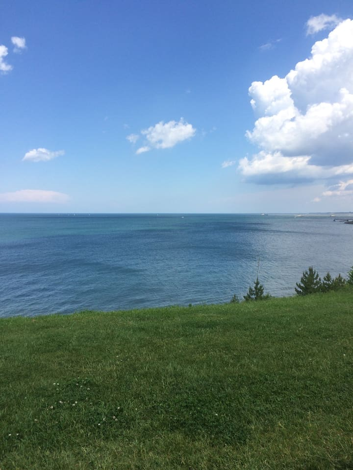 View of the lake from Edgewater Park.  Walkable from my townhome.