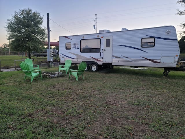 Contemporary Camper w/Queen Bed + Firepit