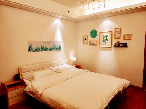 万达原鱼公寓-遇见北欧风情舒适大床房 智能家居