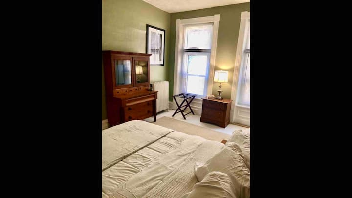 Cozy bedroom in historic Cambria City home