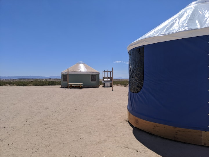 Purty Yurty And Mini Me Yurts For Rent In Joshua Tree California United States A fully set up yurt tent with a queen bed air mattress, a quiet generator, an air. purty yurty and mini me yurts for