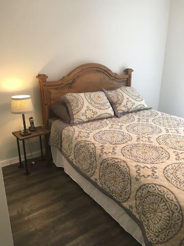 Queen Bedroom #1 with en suite bath.
