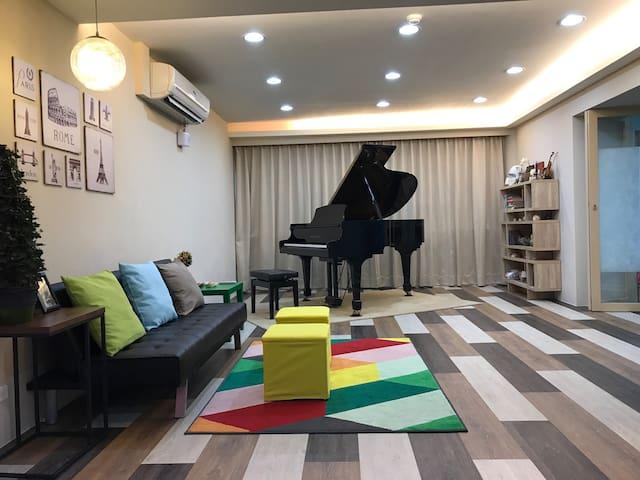 Spacious Stylish♪ 4BR Family Baby Friendly ♪ Piano