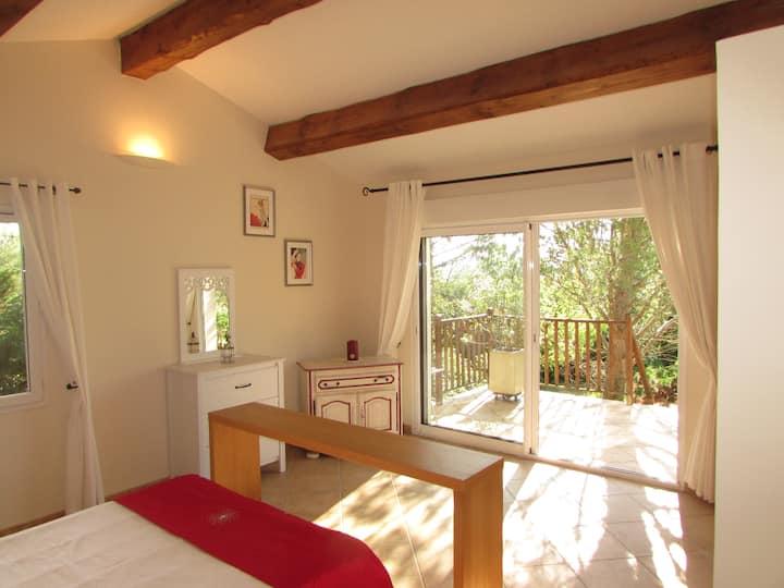 Gite Rouge at Villa Pastis, Barjac, Gard / Ardeche