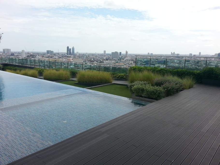 City view from pool