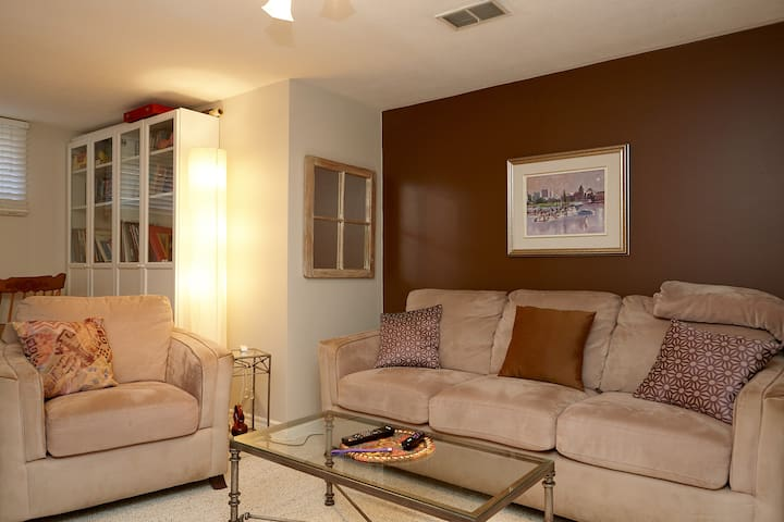 Charming basement apartment in family home