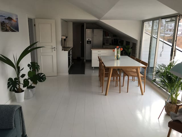 Great penthouse appartment close to city centre.