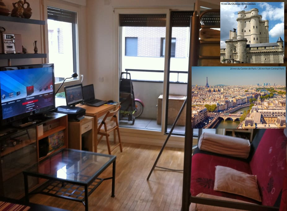 30 mn to central paris 25 m2 studio flat apartments for for 30 m2 salon dekorasyonu