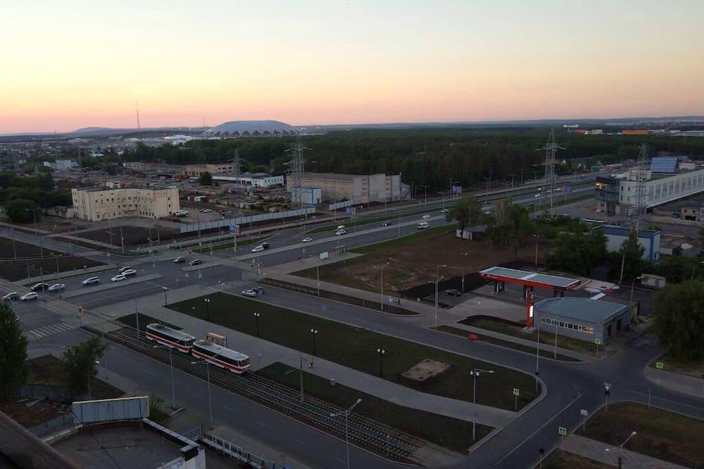 Вид на стадион Самара-арена с 16 этажа моего дома