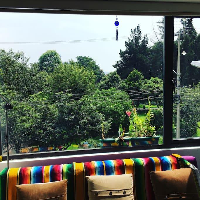 Vista de la sala
