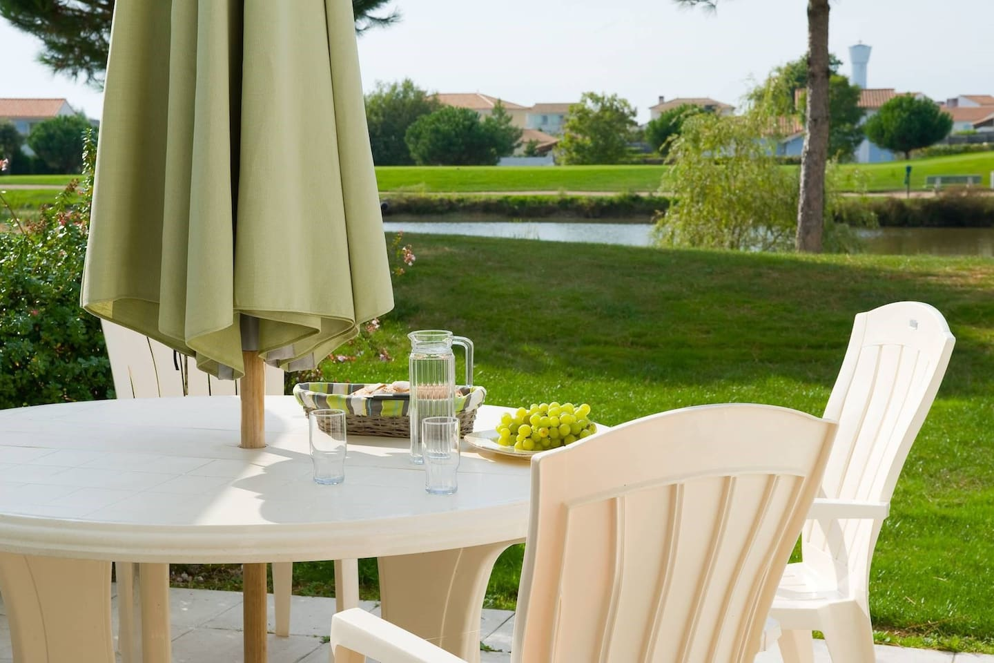Sit out on the lovely furnished terrace that opens onto your private garden!