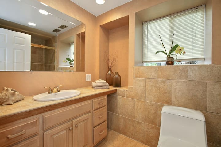 Large private bath