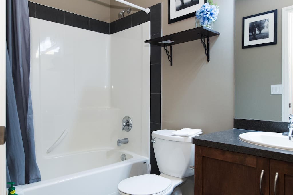 Extremely clean bathroom