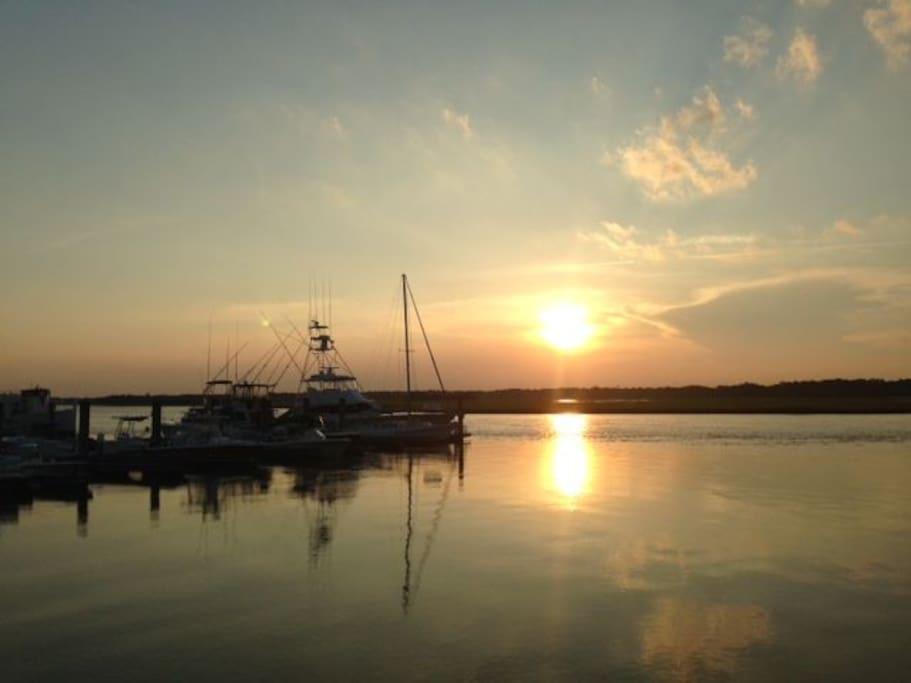 Sunset at Bohicket Marina