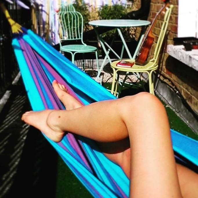 Back Balcony with hammock and table