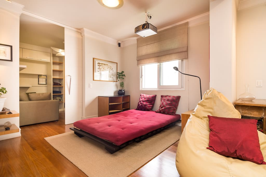 TV ROOM AND BEDROOM