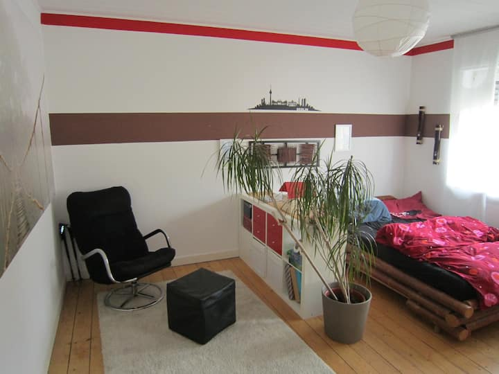 Big guestroom in nice flat