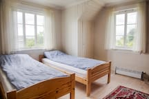 Bedroom 2 - with two single beds. This is the biggest bedroom.  You can add an additional air mattress if needed.