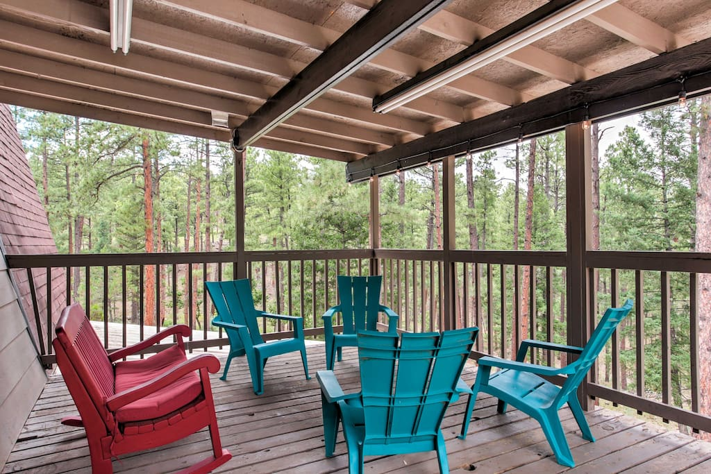 Sip your morning coffee or evening cocktail with the group on the spacious deck.