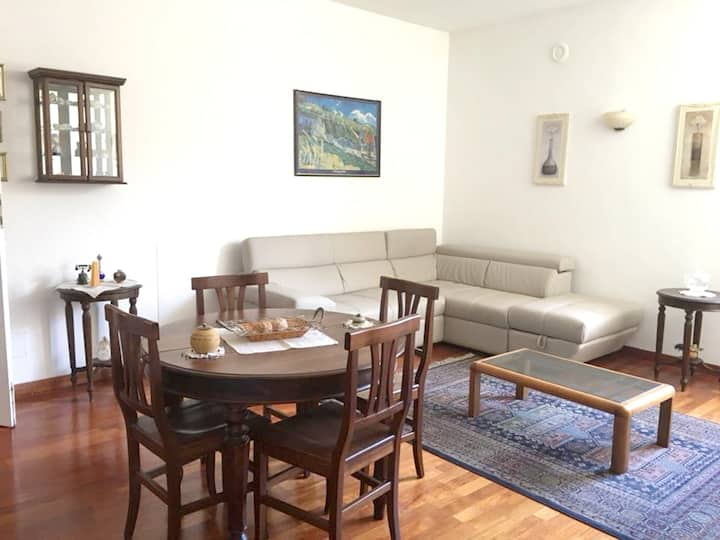 Apartment with 2 bedrooms in Sulmona, with wonderful city view and WiFi - 35 km from the slopes
