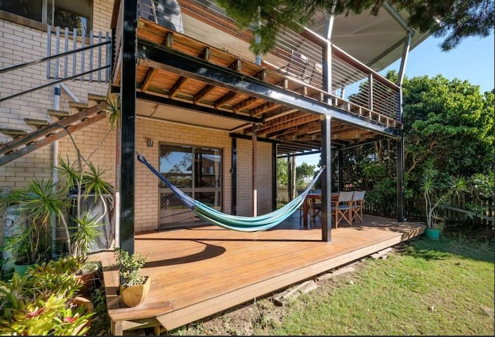 Hammocks and views at your spacious island retreat