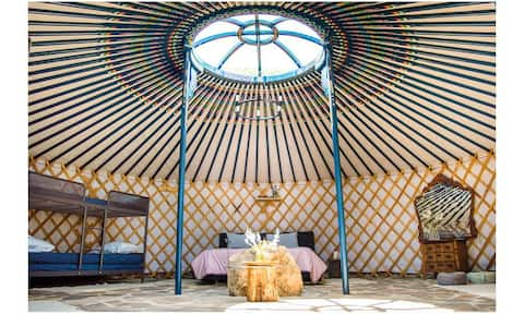 Traditional yurt in the middle of nature!