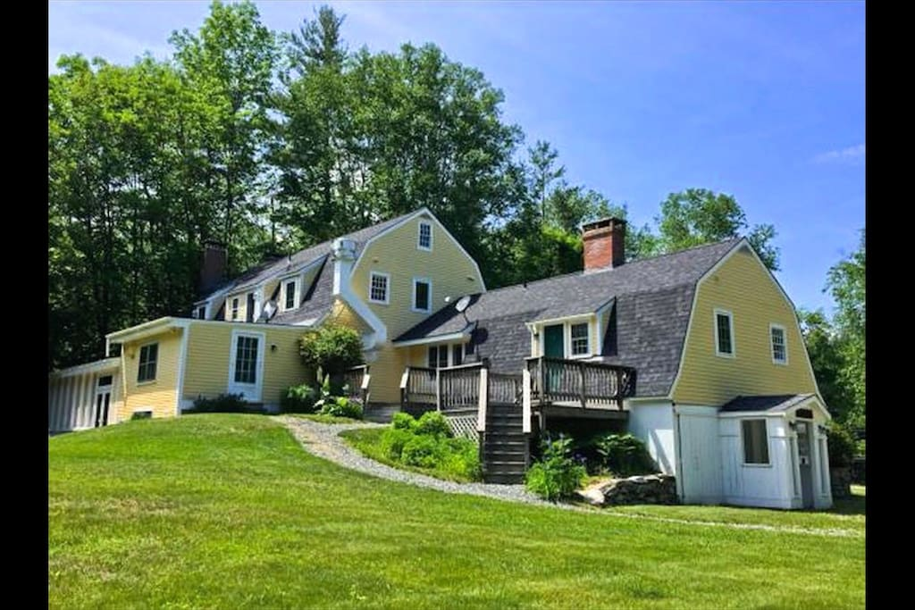 The Blue Door Farm- set on 10 acres in the Green Mountains
