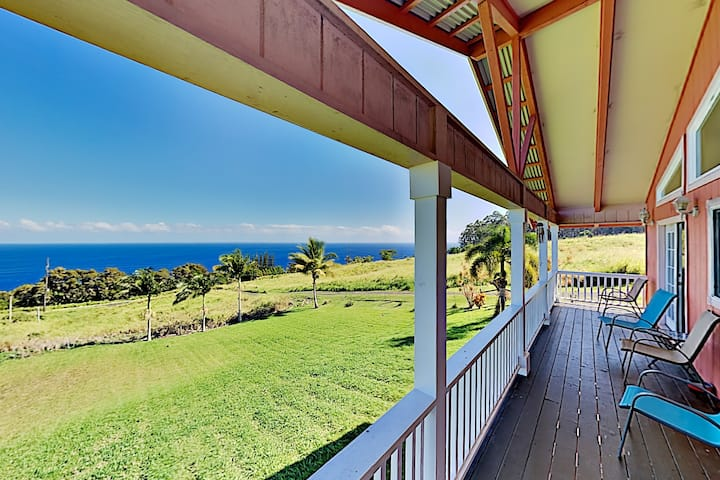 Private Getaway | Epic Ocean Views & 2 Lush Acres