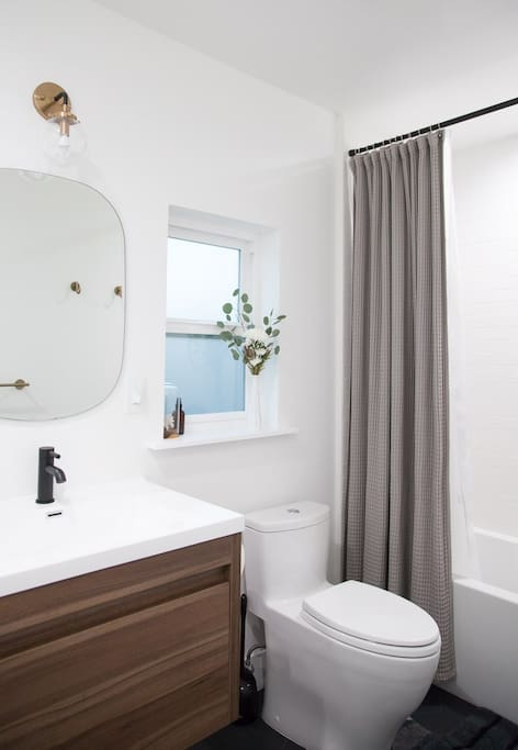 Remodeled Master Bathroom with Tub
