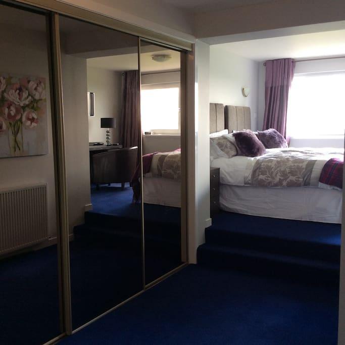 Master bedroom from doorway