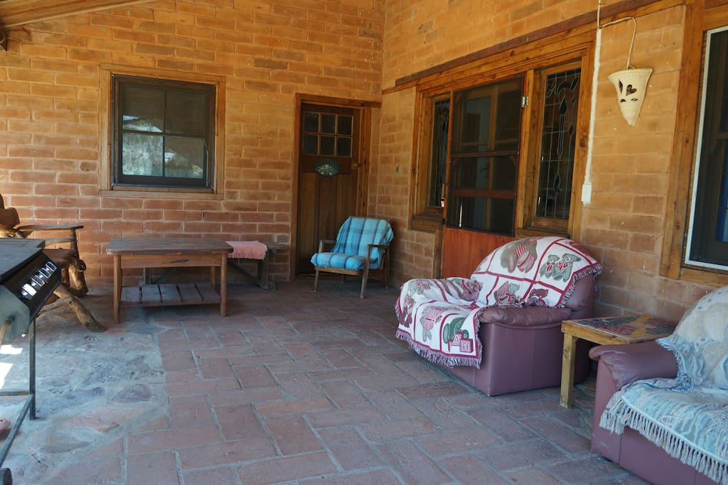 The verandah outside. As you can see, a barbeque is provided as well.