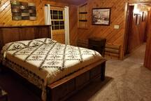 Guest room with Amish made hardwood furniture.