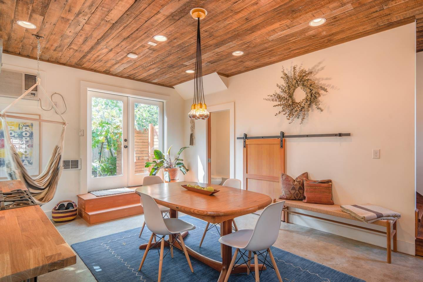 Sorta Summer House is bright and airy with a mix of hardwoods.