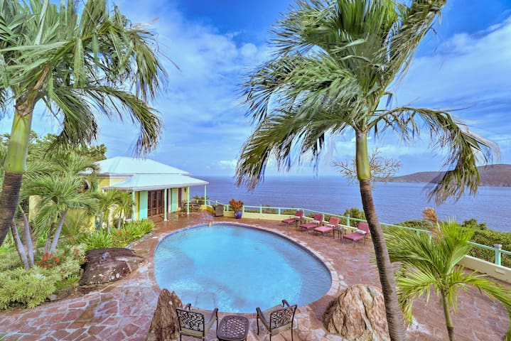NEW! Luxury Villa w/ Ocean Vistas - 2 Mi to Beach!