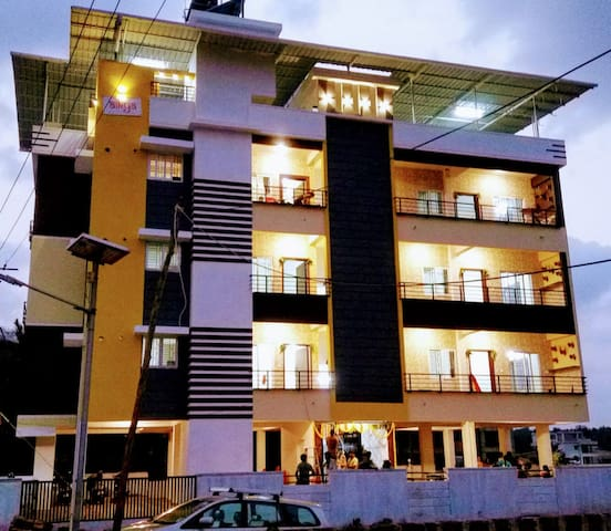 Sweet 2bhk air-conditioning apartment near Bejai