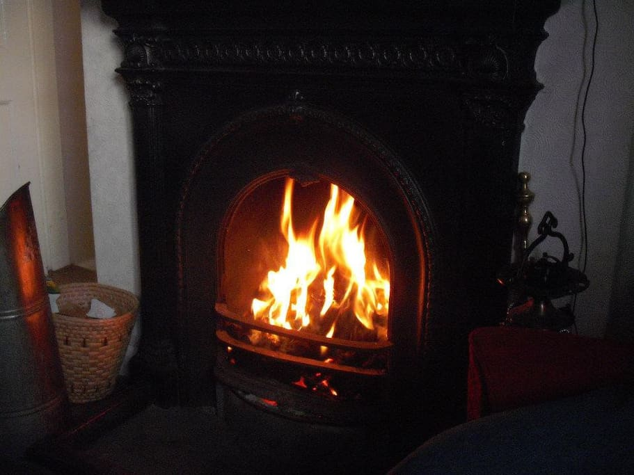 The open fire makes the house cosy in the winter months