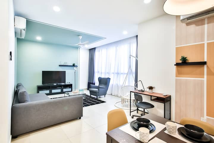 Midtown home perfect for 8 pax @ Bangsar.S 8人新房源