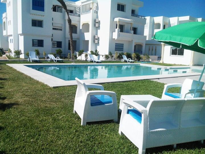 Duplex 3 chambres en résidence avec piscine