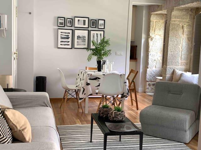 encantador  apartamento en edificio de lujo