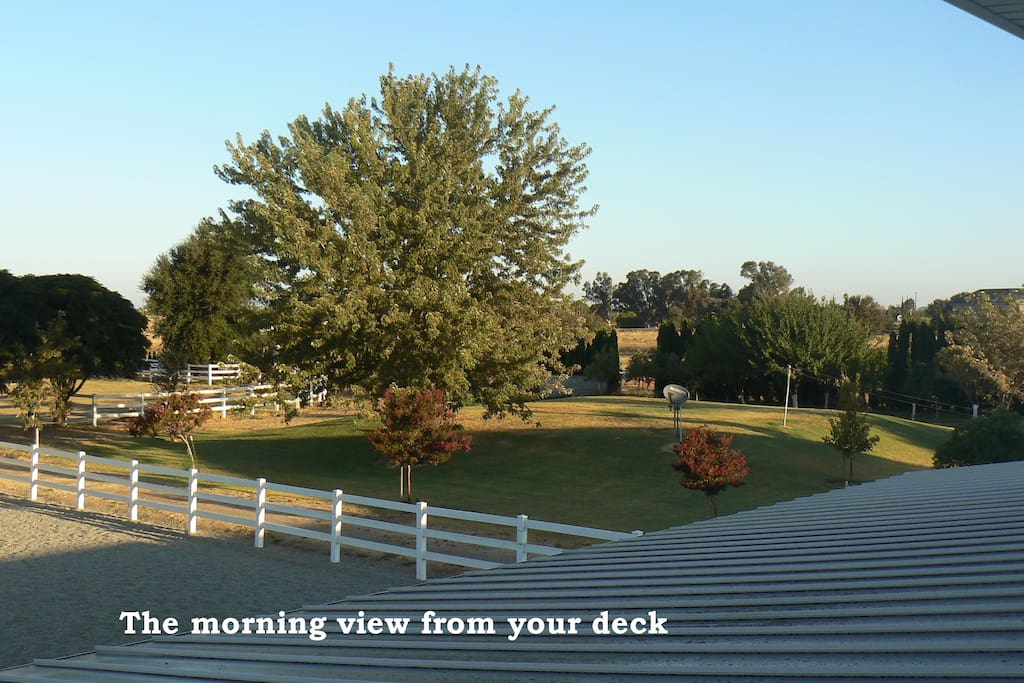 The view from the deck is lovely in all directions.
