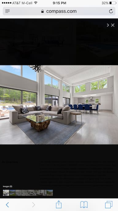 Lofty open floor plan for living/dining. Flooded with natural light.