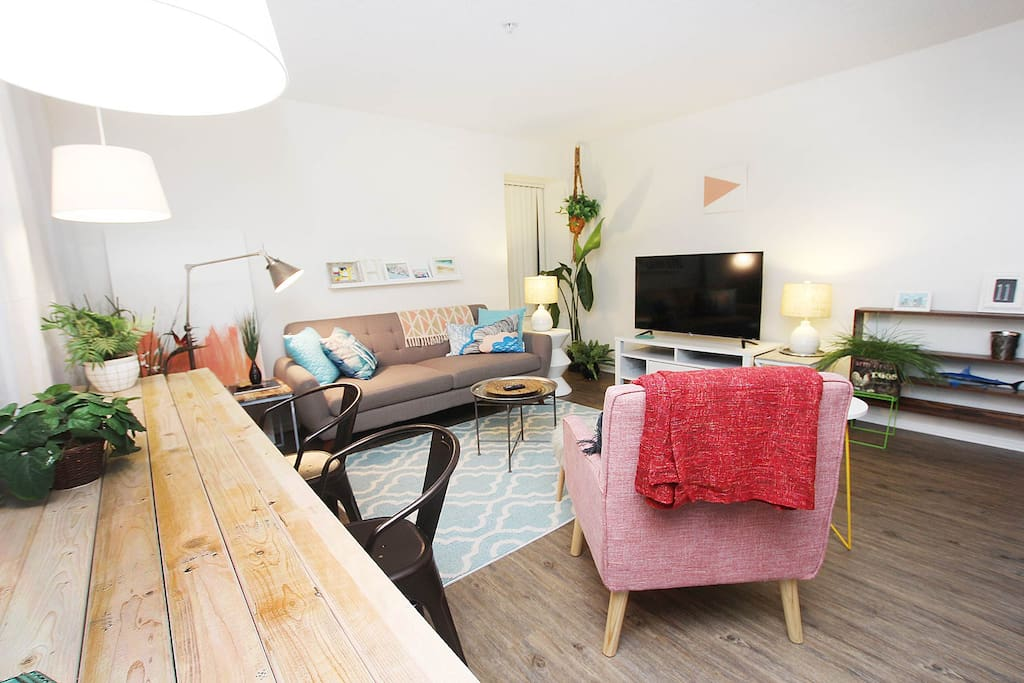 Walk to the beach! Come home to your own cozy space!