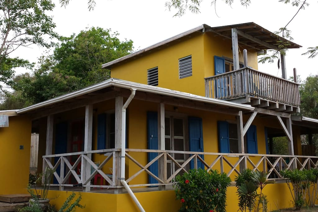 Quiet, natural house with pool on Vieques Island