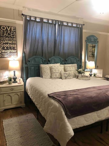 Masters bedroom with King size bed.