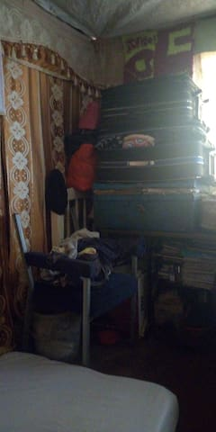 Part of the living where we put clothes there's no closet