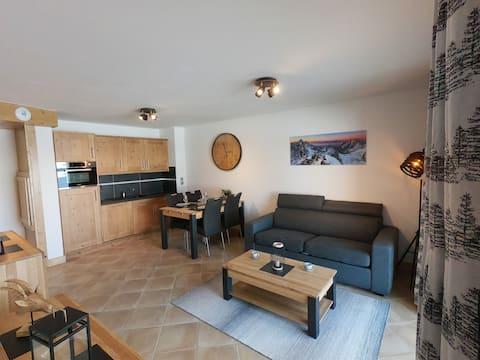 Квартира уютная,La Perle des Alpes, Les Saisies (Bisanne)
