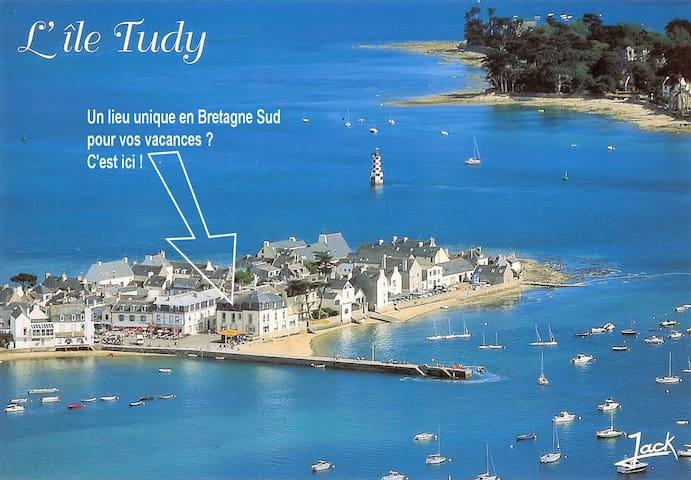 Appartement vue mer imprenable -jusque 6 personnes - Île-Tudy